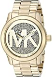 Michael Kors Women's Goldtone Oversized Logo Runway Watch