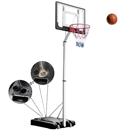 Canasta de baloncesto YXX Juveniles Adolescentes Altura del aro de ...