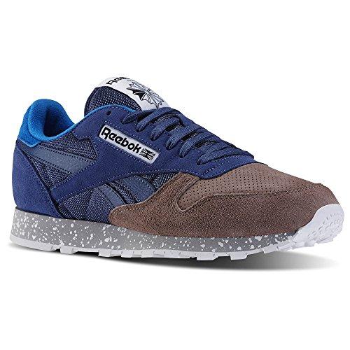 Reebok Mens CLASSIC LEATHER SM Fashion Sneaker Color MIDNIGHT BLUE / SANDY TAUPE 9dsDTphgmi