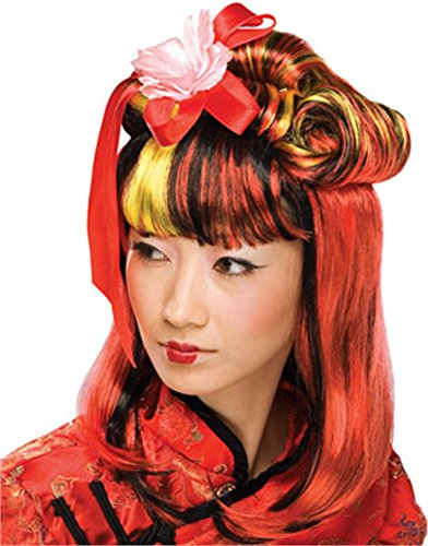 Rubie's Costume Dragon Lady Wig, Red, One Size]()