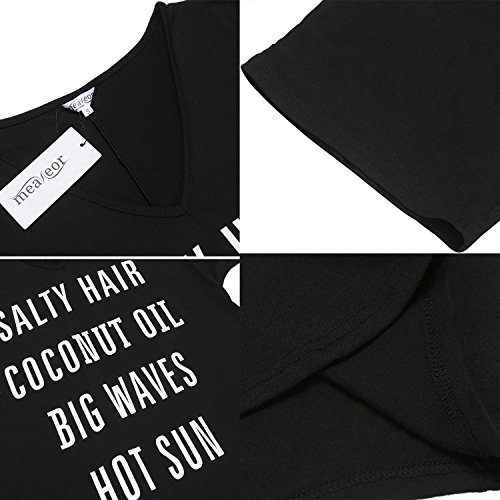 5c4e17e7eb Meaneor Beach Cover-ups Womens Baggy Bikini Dress V Neck T-shirt S-XXL