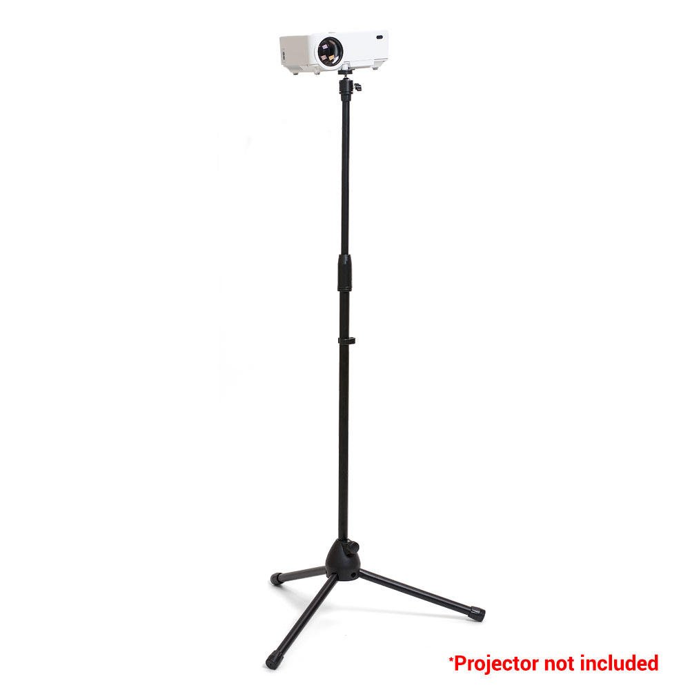 PrimeCables® Portable & Foldable Projector Stand, Heavy Duty Tripod Stand with Height Adjustable from 29.5'-58', Mounting Joint Included Heavy Duty Tripod Stand with Height Adjustable from 29.5-58