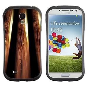 "Pulsar iFace Series Tpu silicona Carcasa Funda Case para SAMSUNG Galaxy S4 IV / i9500 / i9515 / i9505G / SGH-i337 , Metálico Bling Diseño Wallpaper de Oro"""