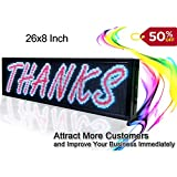 26''x8'' Programmable LED Scrolling Message Sign Indoor P5 full color led advertising Display Board