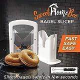 Sweet Home Bee Bagel Slicer, Stainless Steel