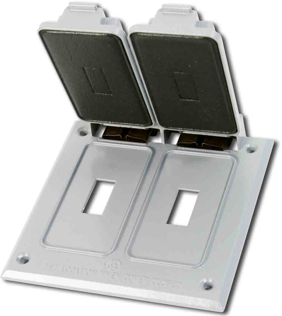 Made in USA Weatherproof Electrical Outlet Box Cover White