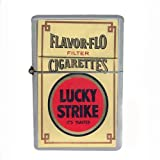 Wind Proof Dual Torch Refillable Lighter Lucky Strike Design-060