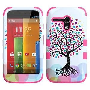 Love Tree Tuff Shield Hybrid Gel Case for Motorola Moto G + Keychain Tool