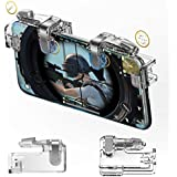Mobile Game Controller,Zeesean Android / iPhone Game Controller,1 Pair of PUBG Mobile Controller with Elastic Pad,Non-slip,No Need to Remove Phone Case,Upgraded Metal Edition