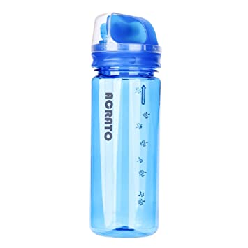 acrato Botella de agua 5OOml Plástico sin BPA y leakproof limpiar Deportes Diseño de mango con