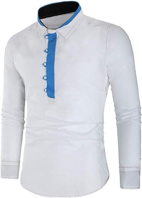 LuckyGirls Sudaderas para Hombre Cuello de Solapa Color de Mezcla Camisetas Chándales de Manga Larga: Amazon.es: Deportes y aire libre
