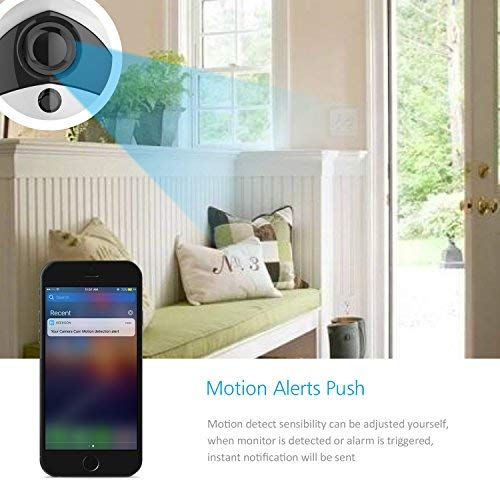Wireless IP Camera 1080P, Security Camera Wifi Indoor, Best CCTV Surveillance system for Baby Pets Home & House, IR-Cut, Night Vision, Two-way Audio, Motion detection, can Pan tilt, Plug & Play, Mini Video Record need IOS, Andriod, PC - Kee