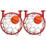 Set of 2 Suction Cup Basket Ball Hoops with Basket Balls! Portable Fun Basket Ball Net Perfect For Anywhere at Anytime!