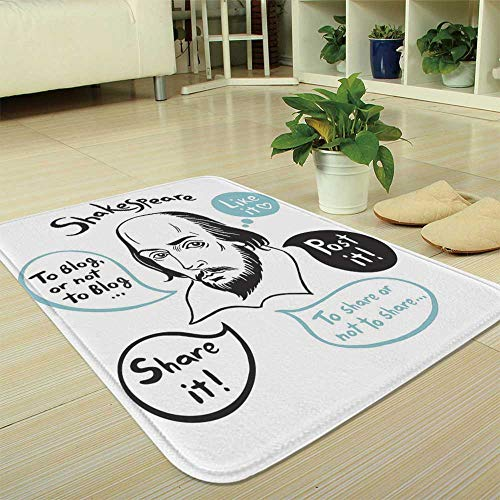 YOLIYANA Bath Mat,Funny,for Dining Room Bathroom Office,35.43