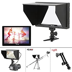 """VILTROX DC-90HD 8.9"""" HD video Monitor Supports 4K HDMI Input/Output 1920x1200 Pixels HD IPS LCD Camera Video Monitor Display HDMI AV Input for DSLR BMPCC with 11"""" Magic Arm"""