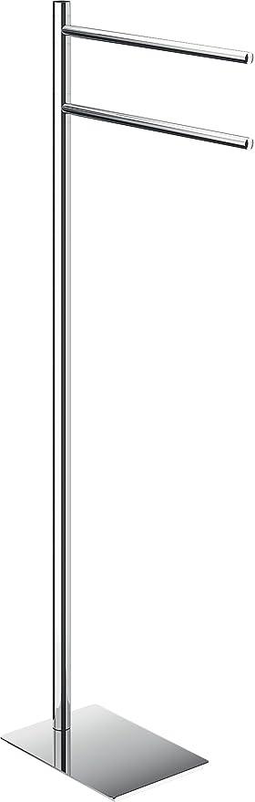 Gedy Trilly Toallero De Pie, Acero Inoxidable, Cromo, 14x34x83.3 cm