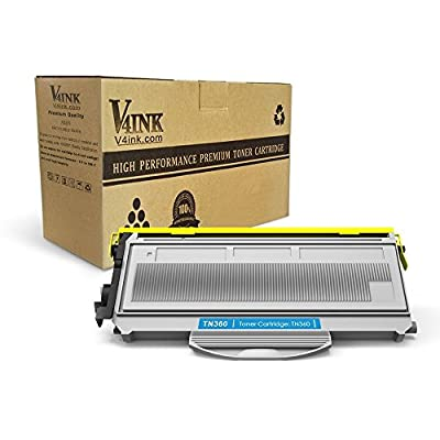 V4INK 1 Pack New Compatible With Brother TN360 TN330 Black Toner Cartridge for Brother HL-2140 HL-2170W DCP-7030 DCP-7040 MFC-7340 MFC-7345N MFC-7440N MFC-7840W Series Printers