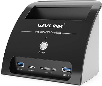 WAVLINK USB 3.0 Base de Conexión Docking Station a SATA para ...