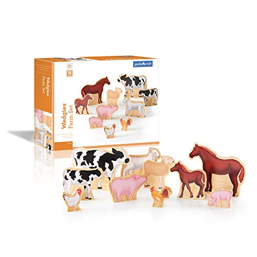 Guidecraft Wedgies Farm Animals Set