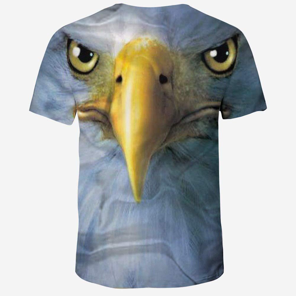 Chamnbilli 3D T-Shirt Mens Animal Printed Short-Sleeve T-Shirt Unisex Crewneck Tees Tops