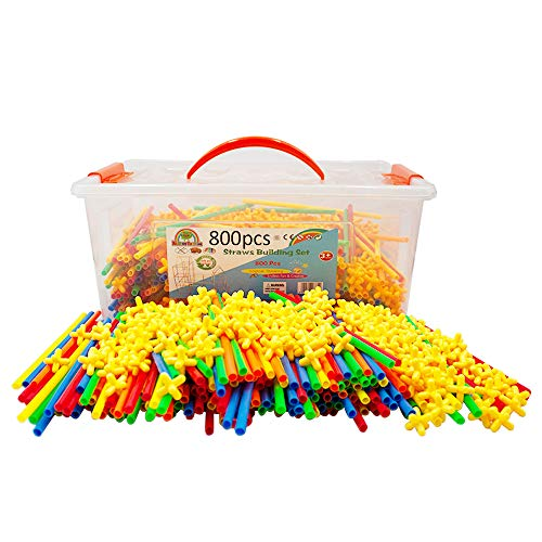 Straw Constructor STEM Building Toys 800 pcs-Colorful for sale  Delivered anywhere in USA
