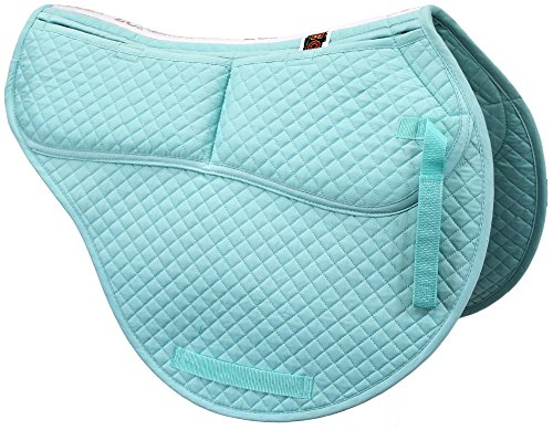 ECP Cotton Correction All Purpose Contoured Saddle Pad - Memory Foam Pockets Turquoise
