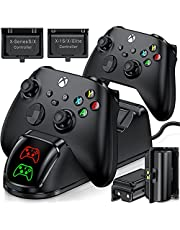 BEBONCOOL Controller Charger for Xbox one/Xbox Series X & S, Controller Charging Station for Xbox One X/One S Elite Controllers, Dual Charging Station with 2 x 1500mAh Rechargeable Battery Packs