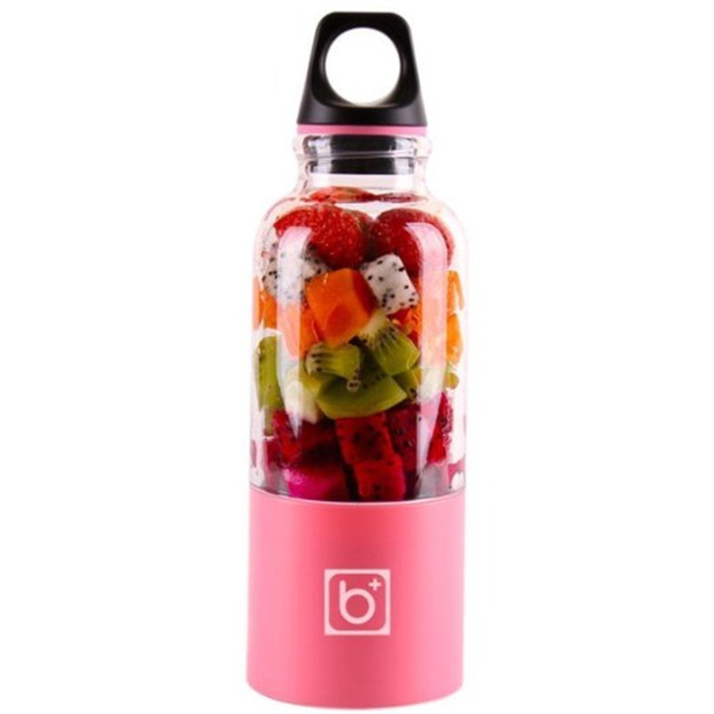 Bingo Outdoor Portable Mixer Water Bottle Drink Cup Automatic USB Fruit Juicer Blender Juice Smoothie Maker (500ML, Pink) by Watalula Trading Post