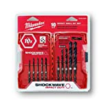 10-Piece Shockwave Hex Shank Drill Bit Set