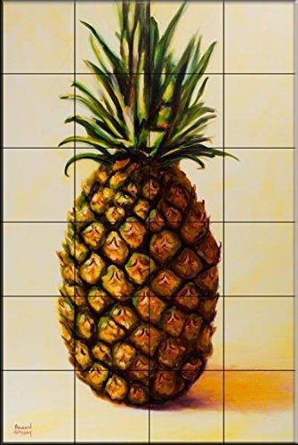 Pineapple Tile (Ceramic Tile Mural - Pineapple Angel - by Shannon Grissom - Kitchen backsplash / Bathroom shower)