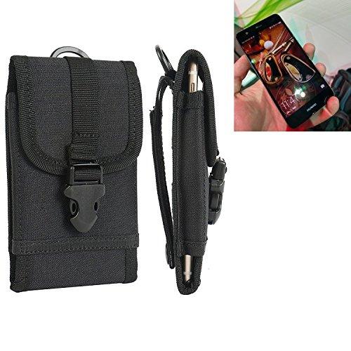 bolsa del cinturón / funda para Huawei Nova Single SIM, negro | caja del teléfono cubierta protectora bolso - K-S-Trade (TM)