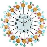 "NEOTEND 3D Wall Clock Natural Seashells Decorative Silent Large Clock Diameter 23.6"" Style 1"