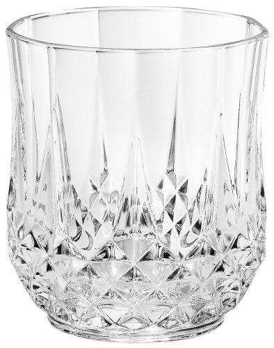 Double Old Fashion Glassware - Cristal D'Arques Longchamp Diamax Double Old Fashion, Set of 4