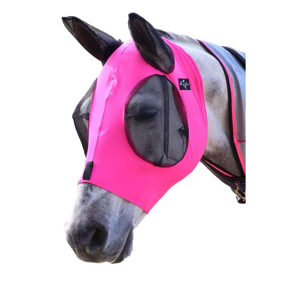 Horse Fly Mask, Fly Mask with Nose and Ears - Mesh Mask Effectively Protects The Horse from Sandstorms, Avoids Direct Light and While Allowing Full Visibility by BoZhiLin