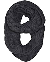HUE21 Women's Thick Cable Knit Infinity Scarf