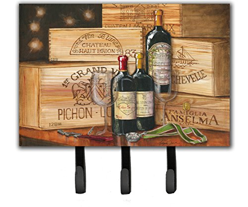 Caroline's Treasures TMTR0254TH68 Wine Gran Vin by Malenda Trick Leash or Key Holder, Triple, Multicolor