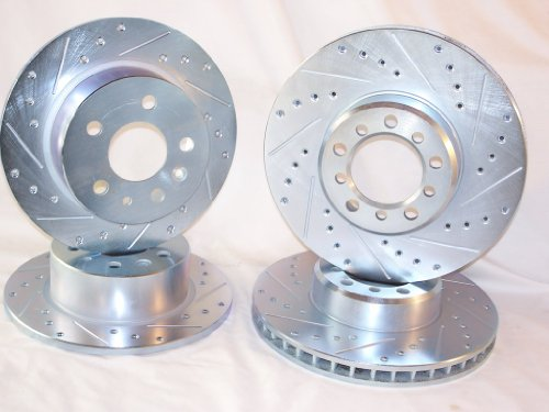 1994 1995 1996 1997 1998 1999 Mercedes Benz S320 S350 [W140 Girling] Front & Rear Disc Brake Rotors + Pads