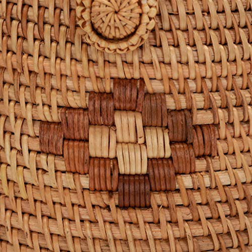 Women's Bag, Fashion Bag - Summer Women's Bag - Hand-Woven Rattan Bag - Crossbody Beach Bag by BHM (Image #6)