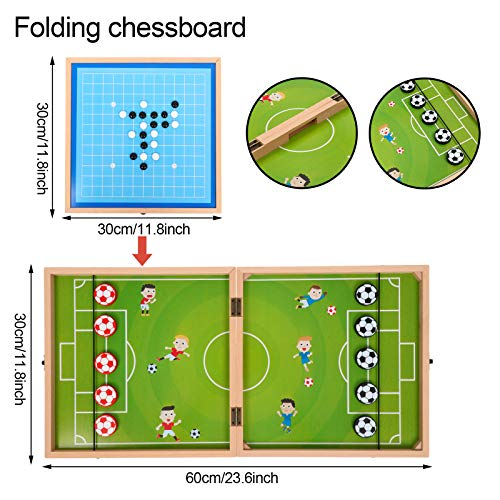 Wooden Multifunctional Game Chess Box, Parent-Child Double Board Game, Versus and Interactive Games Toy, Best Choice for Children's Birthday (6-in-1)