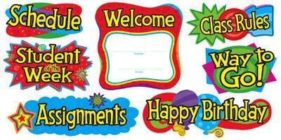 - Trend Enterprises Inc. Bb Set Classroom Signs