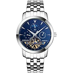 BINKADA Men's Novelty Date Week Moon Pase Automatic Mechanical Watch#705601-2