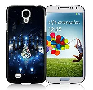 Galaxy S4 cases, Samsung Galaxy S4 cases,Lovely Christmas Street Lighting Samsung Galaxy S4 i9500 Case Black Cover WANGJING JINDA