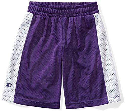 Starter Girls' Mesh Basketball Shorts, Prime Exclusive, Team Purple With White Stripe, M (Purple Girls Shorts)