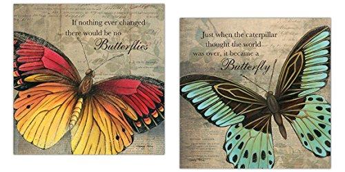 Inspirational Butterfly Butterflies Caterpillar Unframed product image
