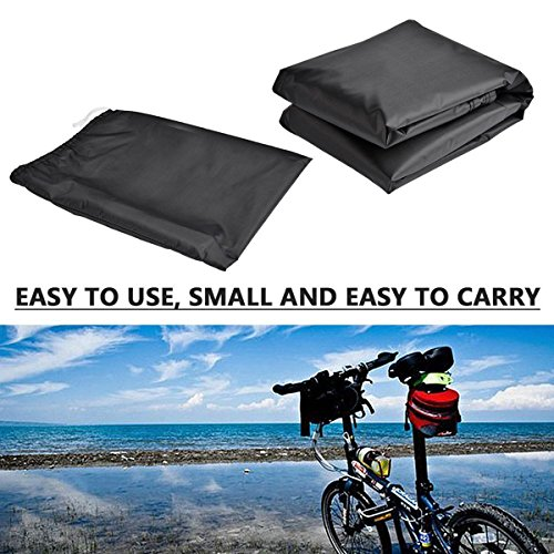 EUGO Bike Cover for 2 Bikes Outdoor Waterproof Bicycle Covers 210D Oxford Fabric Rain Sun UV Dust Wind Proof for Mountain Road Electric Bike by EUGO (Image #4)