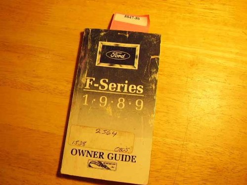 1989 Ford F Series Pick Up Truck Owners Manual