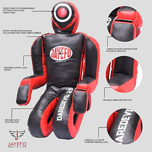 Jayefo VEGELEATHER Daredevil Dummy 6FT (Black/RED) by Jayefo (Image #1)