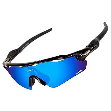 Batfox Gafas De Sol Deportivas Polarizadas con Lentes Intercambiables,Tr90 Marco Irrompible para Pesca Ski Conducción Golf Salir A Correr Ciclismo ...