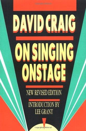 Download On Singing Onstage (Applause Acting Series) [Paperback] [2000] (Author) David Craig ebook
