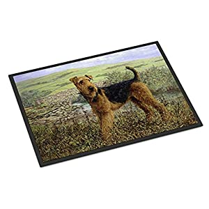 Caroline's Treasures HMHE0245MAT Airedale Terrier The Kings Country Indoor or Outdoor Mat 18x27, 18H X 27W, Multicolor 25